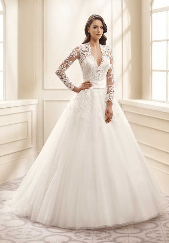 A ball gown wedding dress