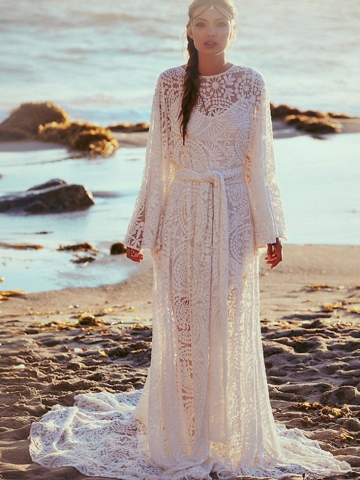 A bohemian wedding dress