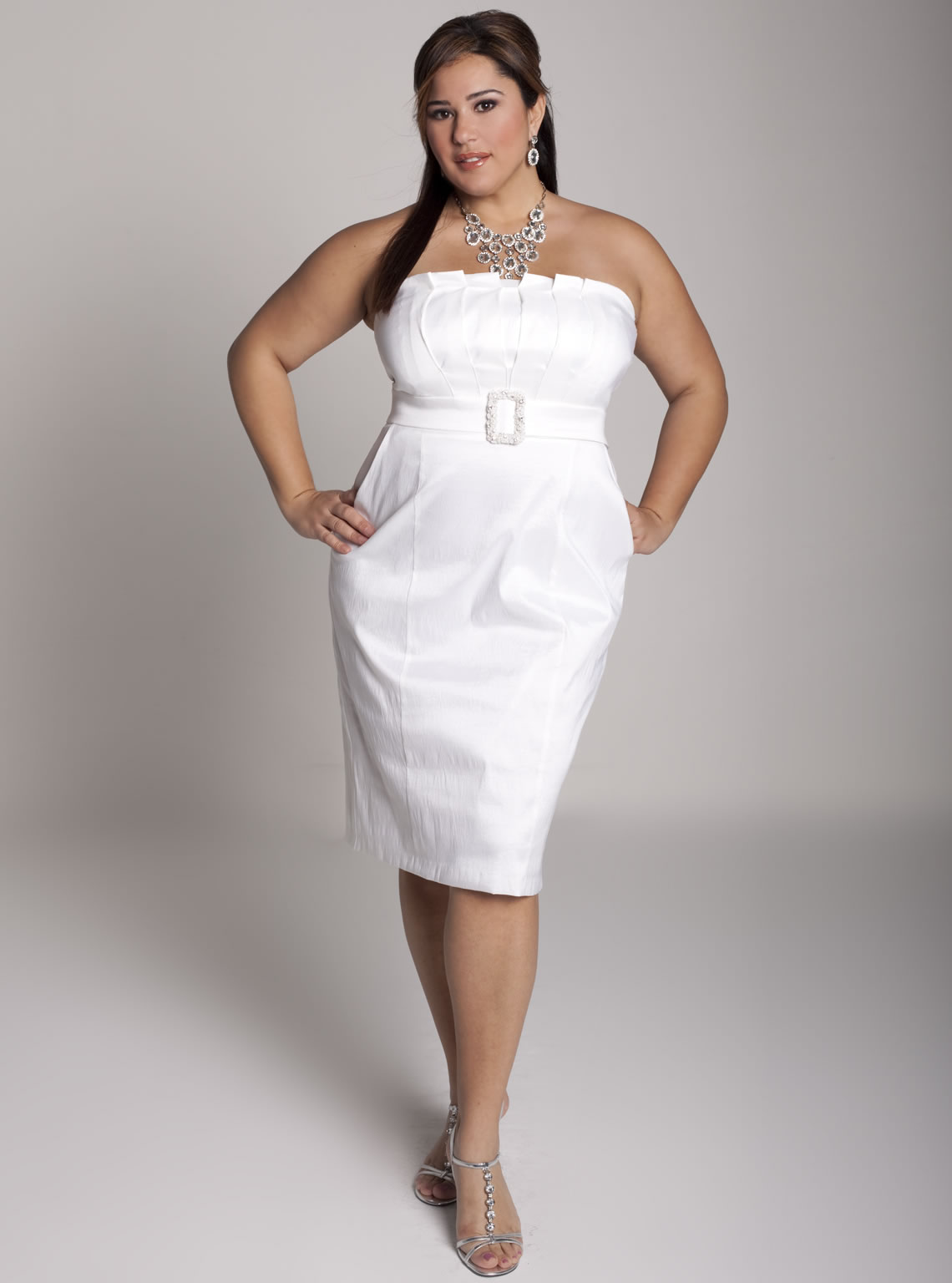 A casual wedding dress plus size