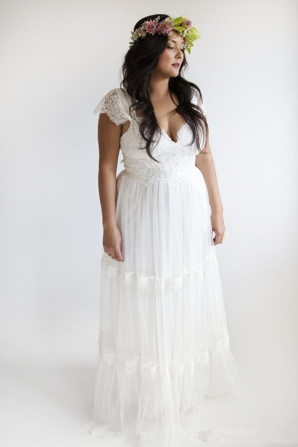 A country wedding dress plus size