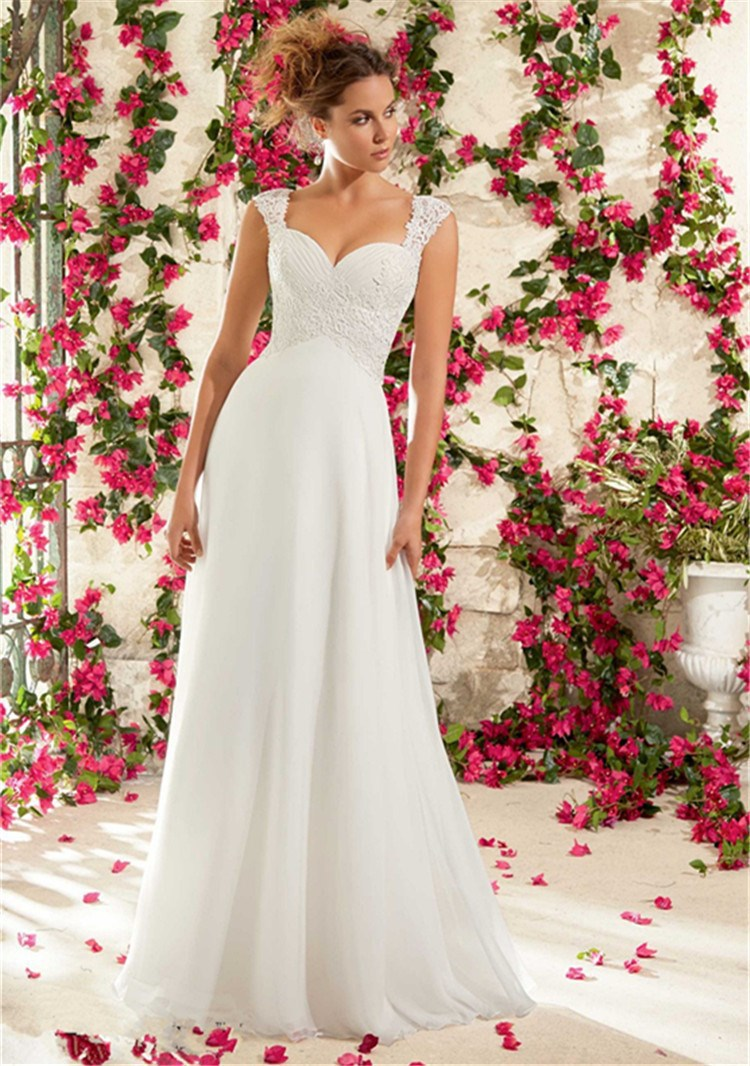 An empire waist wedding dress
