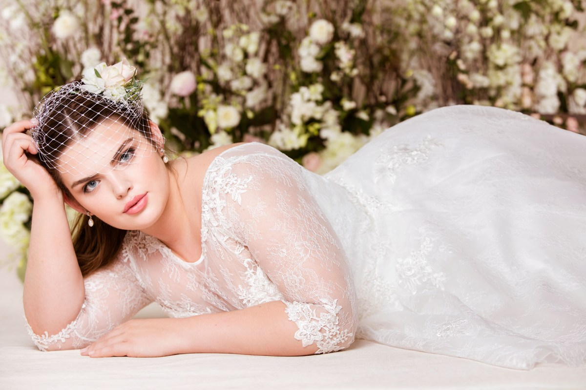 A plus size wedding dress