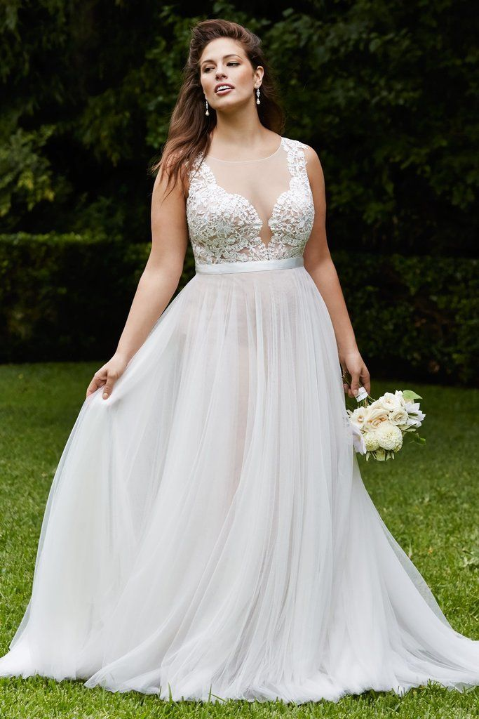 A Sexy Plus Size Wedding Dress