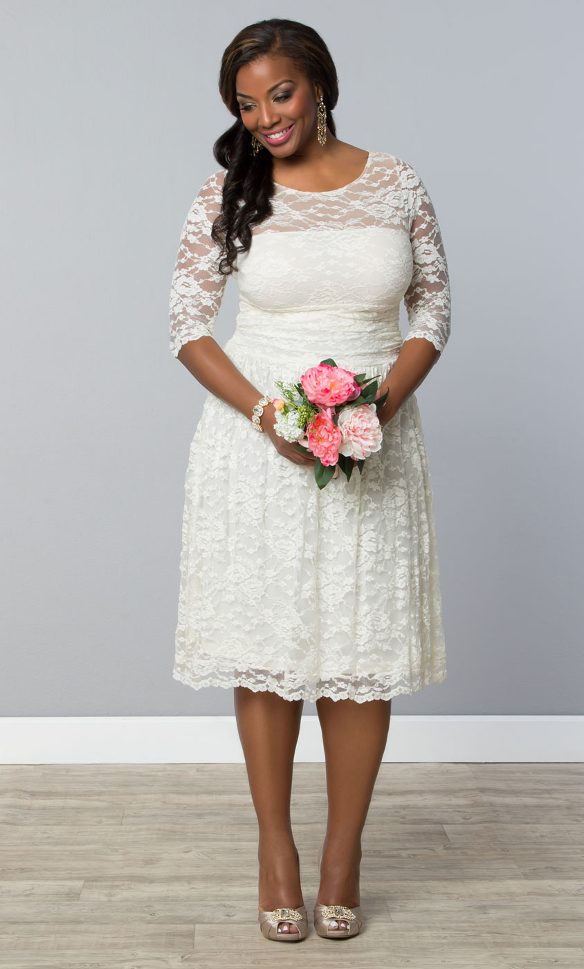 A Short Plus Size Wedding Dress