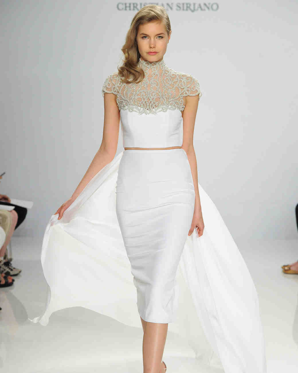 A two-pieces wedding dress