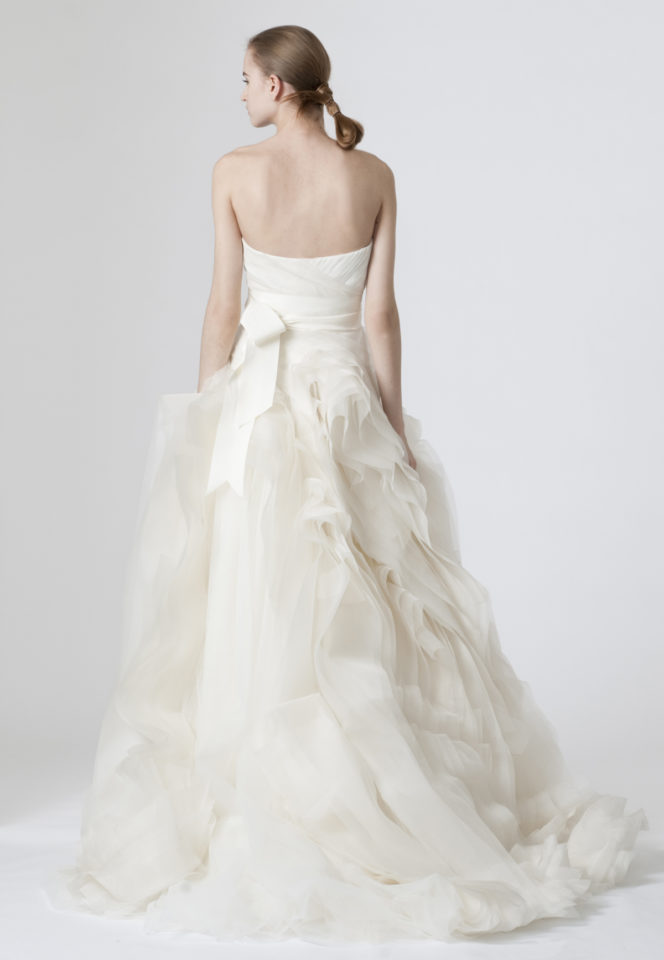 Back of the Diana wedding dress by Vera Wang