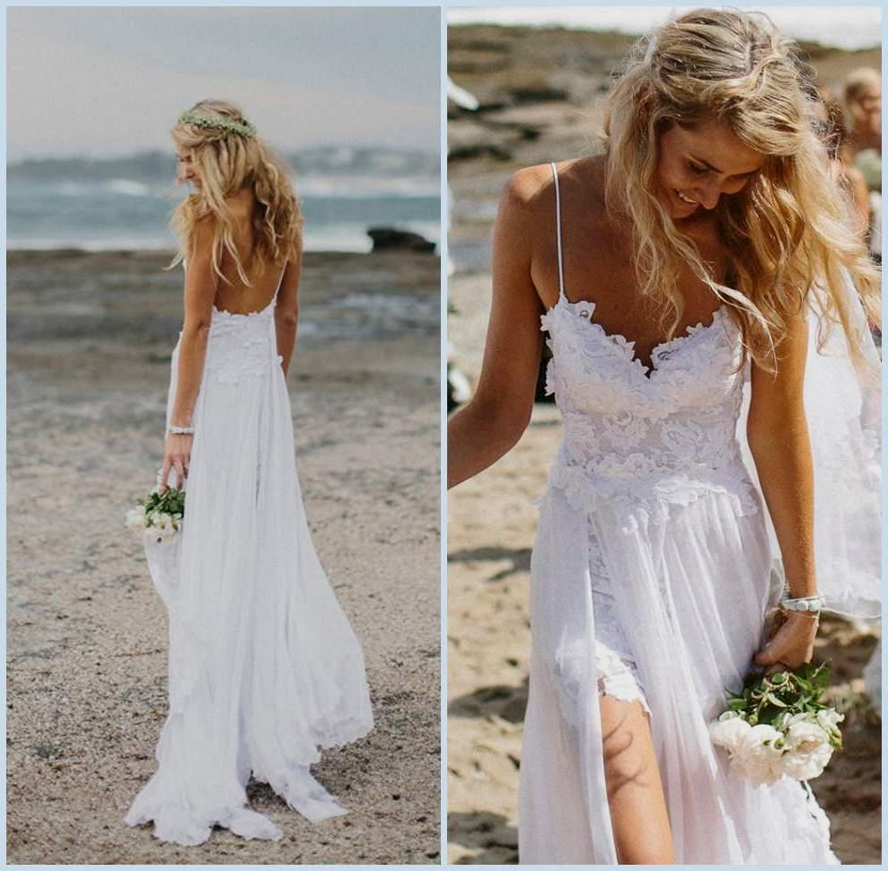 A beach wedding dress