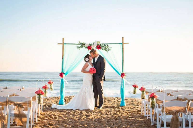 A beach wedding