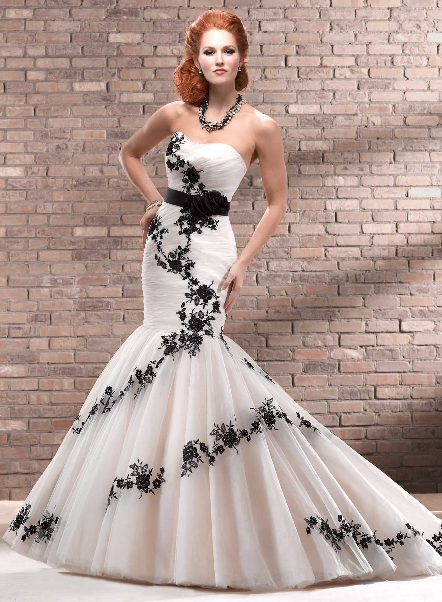 A Black And White Trumpet Dress