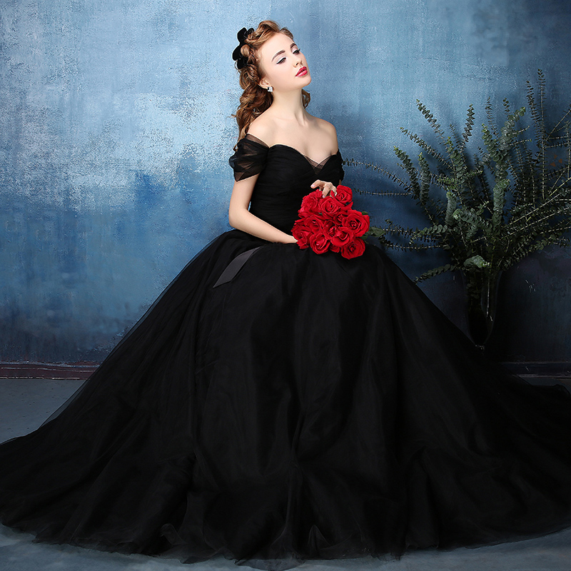 25 astonishing ideas of black wedding dresses the best for Images of black wedding dresses