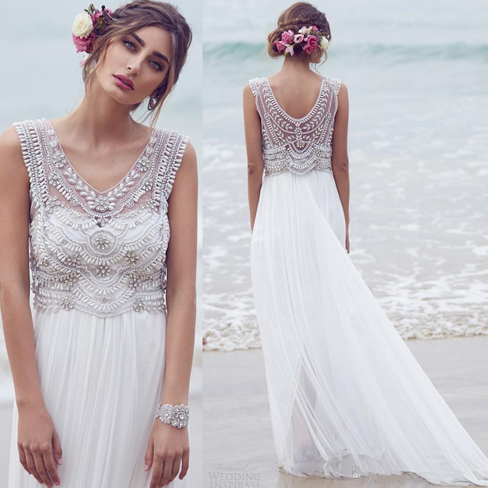 A boho chic beach wedding dress