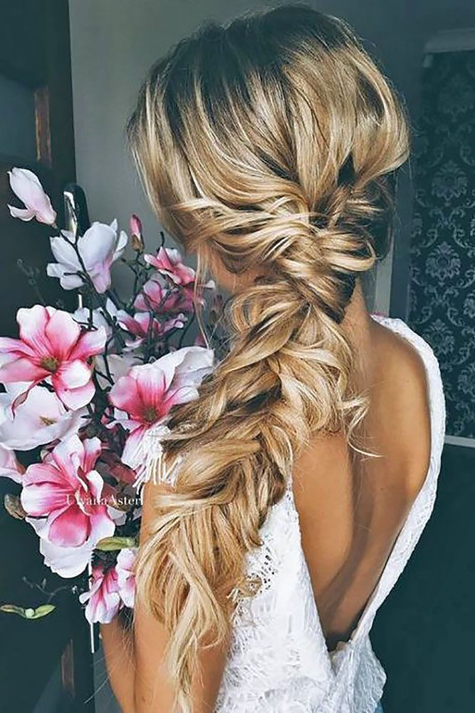 A braided wedding hair