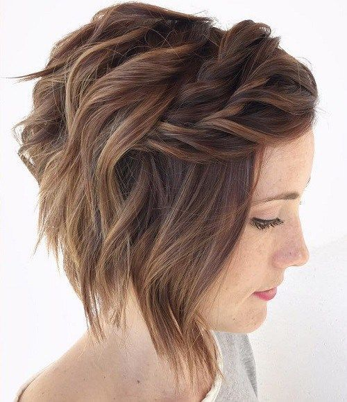 A bridal hairstyle on short hair