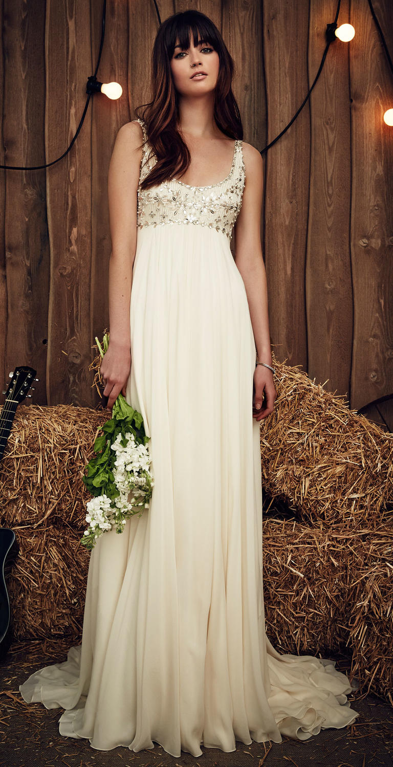 An empire waist dress by Jenny Packham