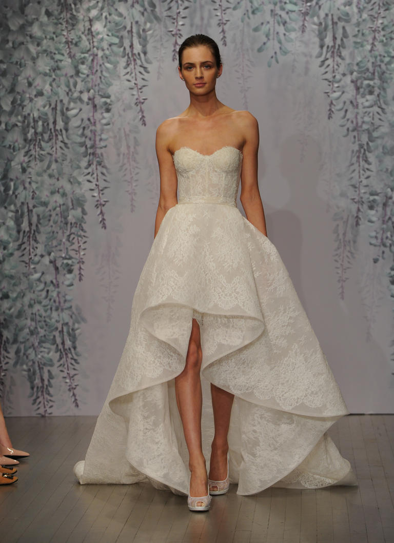 A high low wedding dress