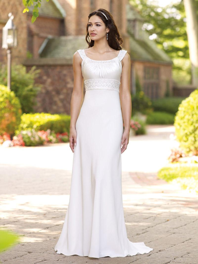 An Informal Wedding Dress For Older Brides