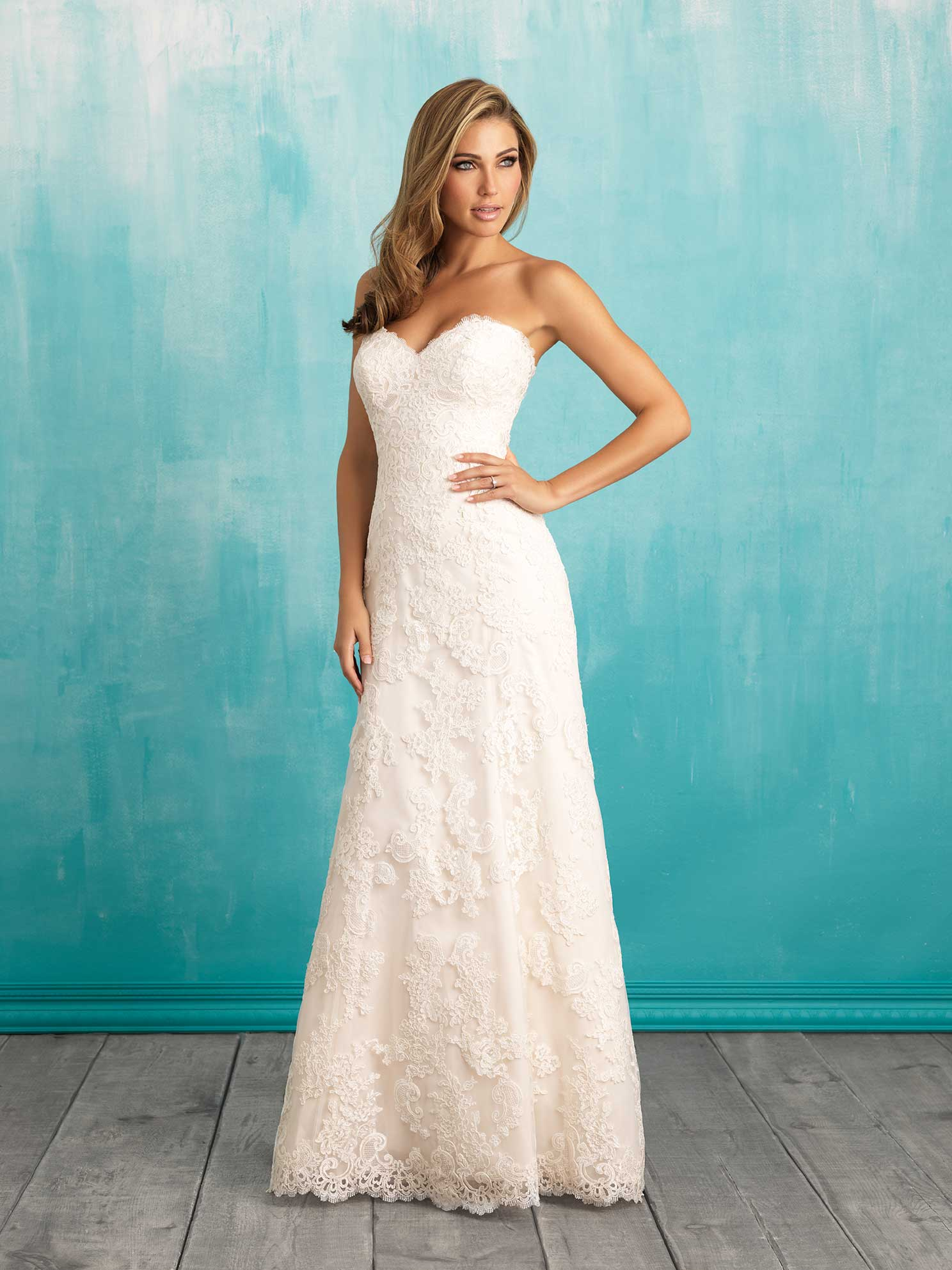 A lace dress by Allure Bridal