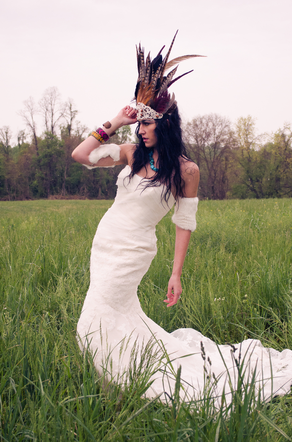 A Native American wedding dress