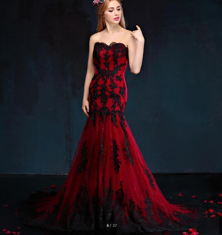 Red And Black Wedding Dress Good Dresses