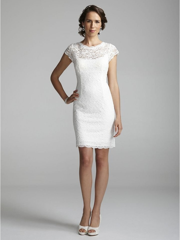 A short lace wedding dress