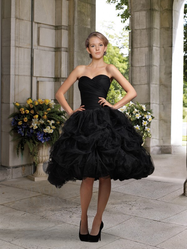Short Black Weding Dreses 025 - Short Black Weding Dreses