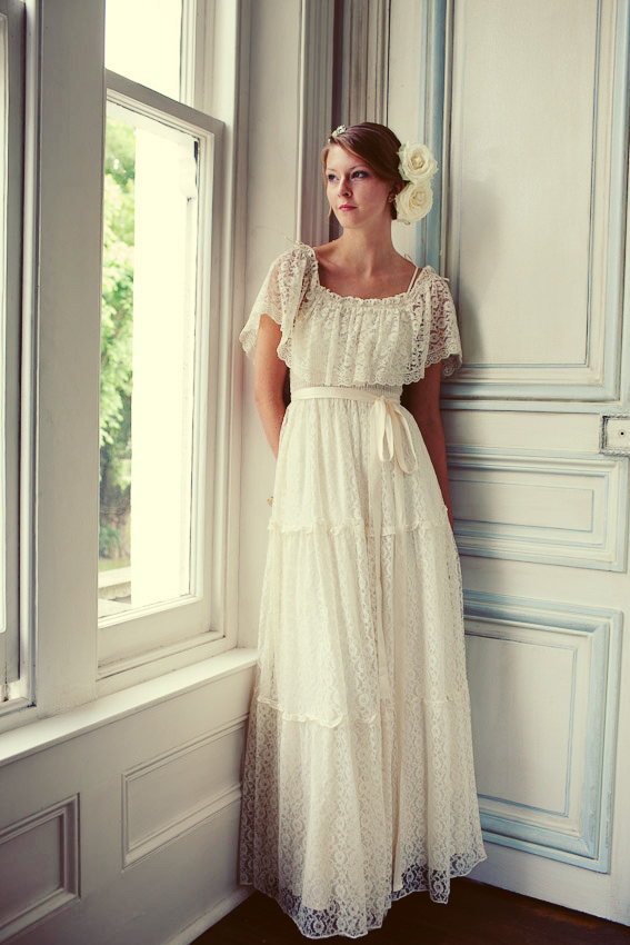 A vintage wedding dress