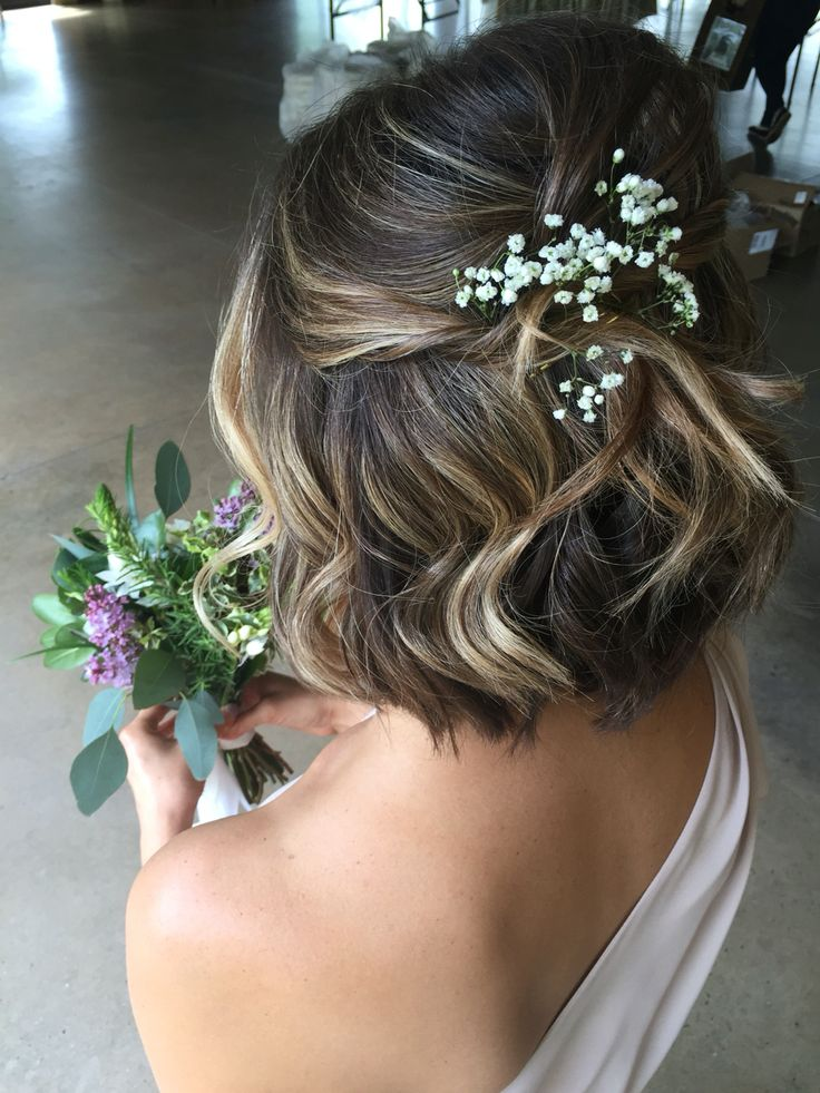A wedding hairstyle for short hair