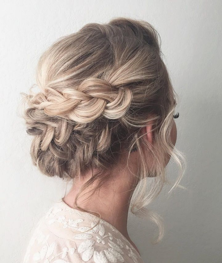 A wedding hairstyle with braids