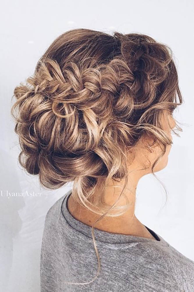A wedding hairstyle with chignon