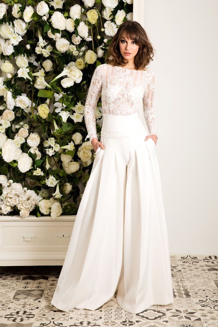 A wedding pantsuit