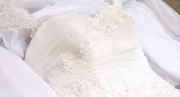 Don't clean your wedding gown at home