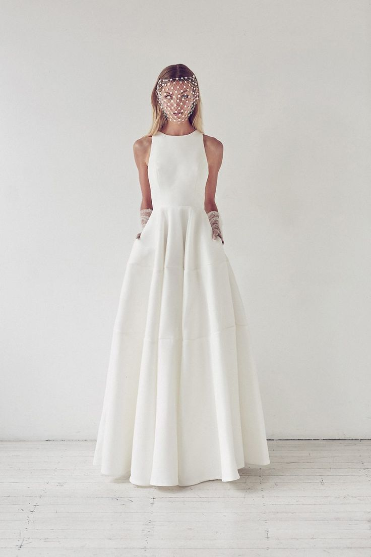 An elegant wedding gown