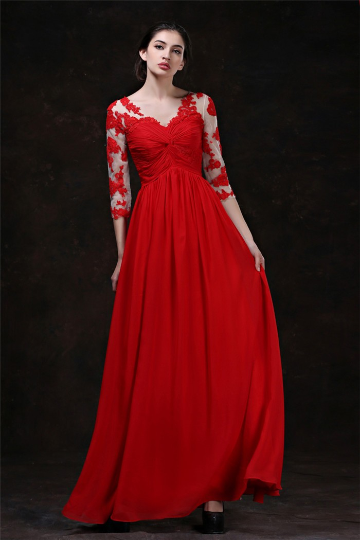 Why do some brides get married using red wedding dresses for Red wedding dresses with sleeves