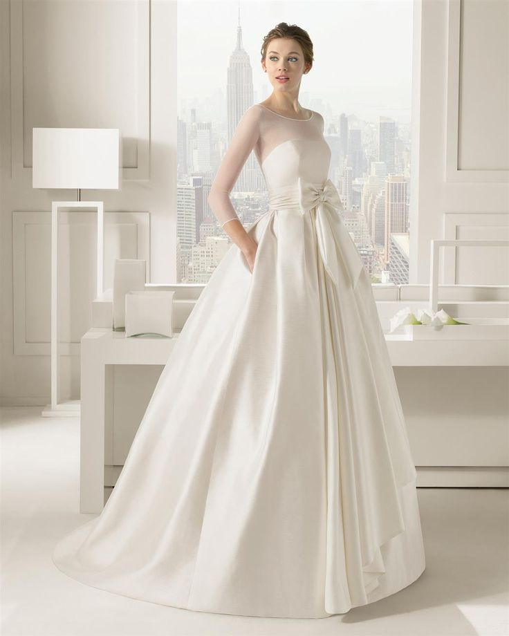 A High Neck Wedding Gown