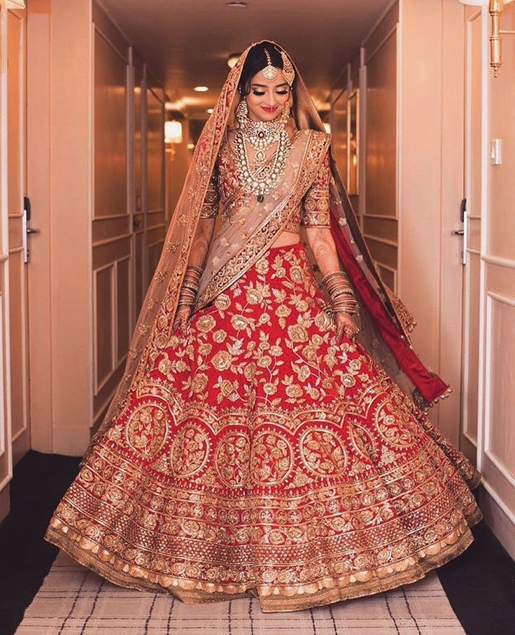An Indian wedding dress