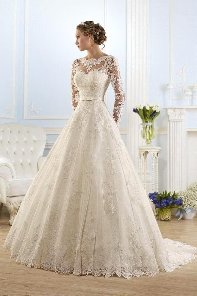 25 long sleeve wedding dresses you will fall in love with for Long sleeve wedding dress for sale