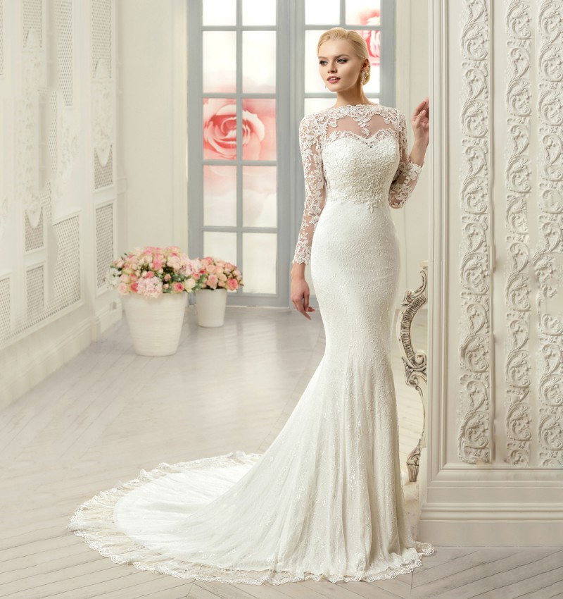 25 long sleeve wedding dresses you will fall in love with for Wedding dresses for tall skinny brides