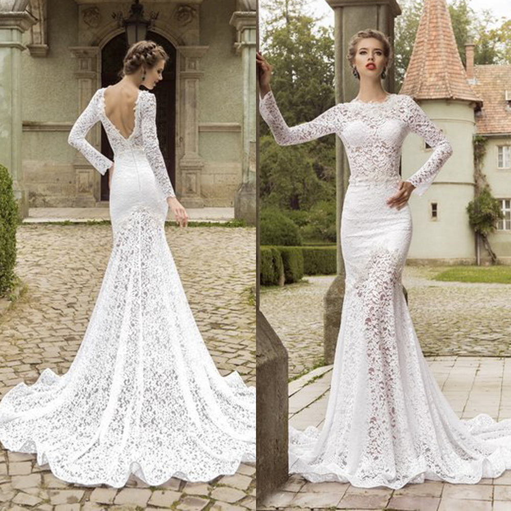25 long sleeve wedding dresses you will fall in love with the best a long sleeve open back wedding dress junglespirit Gallery