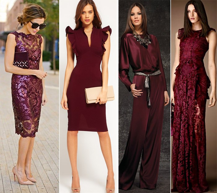 Marsala wedding guest dresses