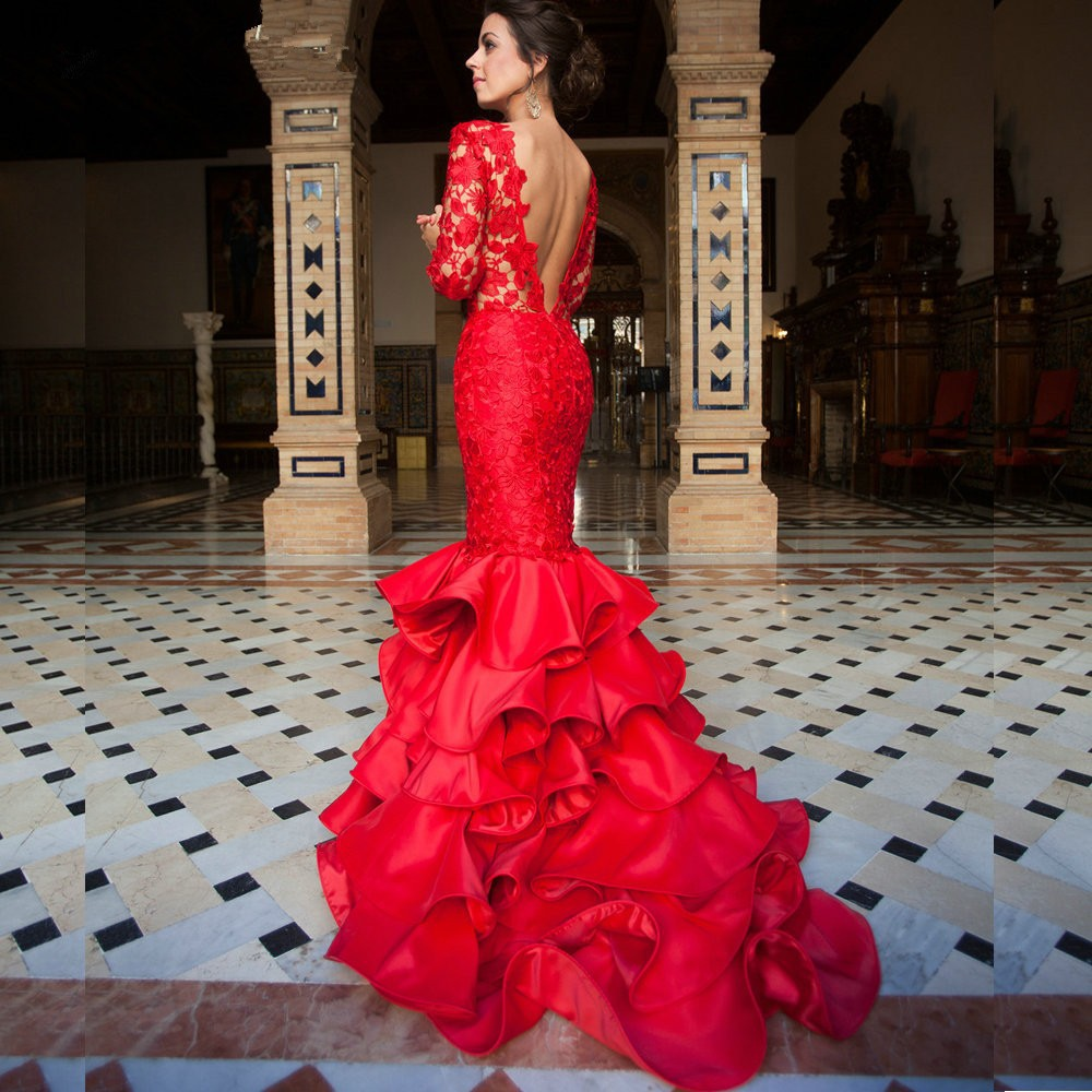 Why do some brides get married using red wedding dresses the best an open back red wedding dress junglespirit Images