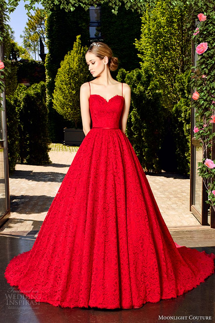 Why do some brides get married using red wedding dresses the best a red ball gown wedding dress junglespirit Images