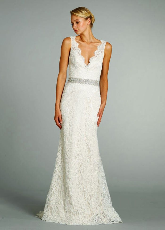 Vintage Lace Simple Wedding Dress