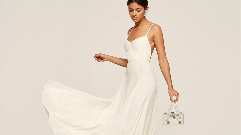 A simple wedding dress