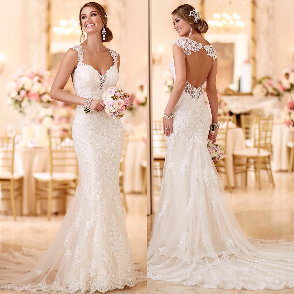 65 Perfect Low Back Wedding Dresses | The Best Wedding Dresses