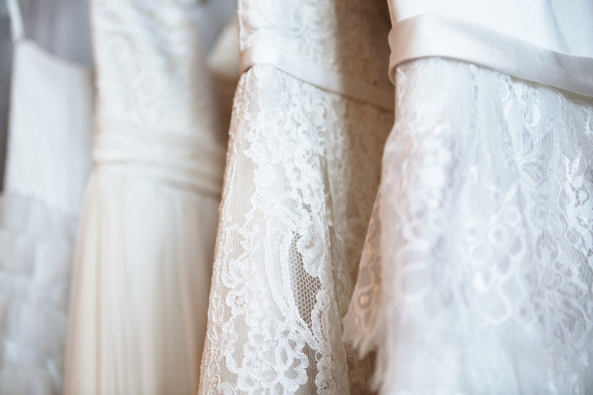 The price for wedding dress dry cleaning depends on the gown style and degree of staining