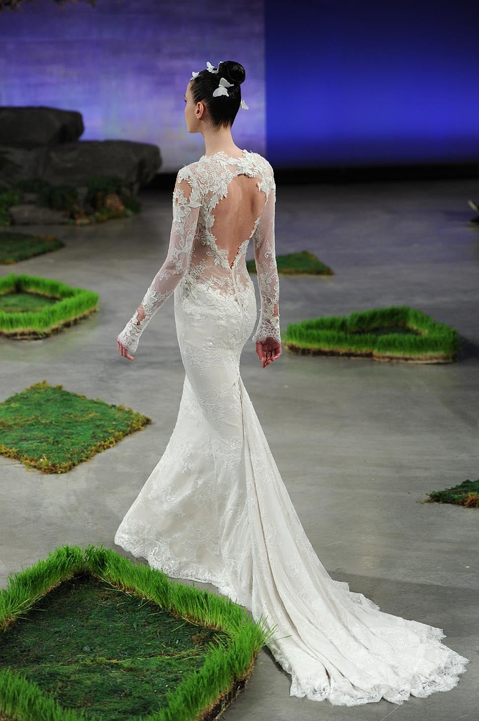 Ines di Santo wedding dress with open back