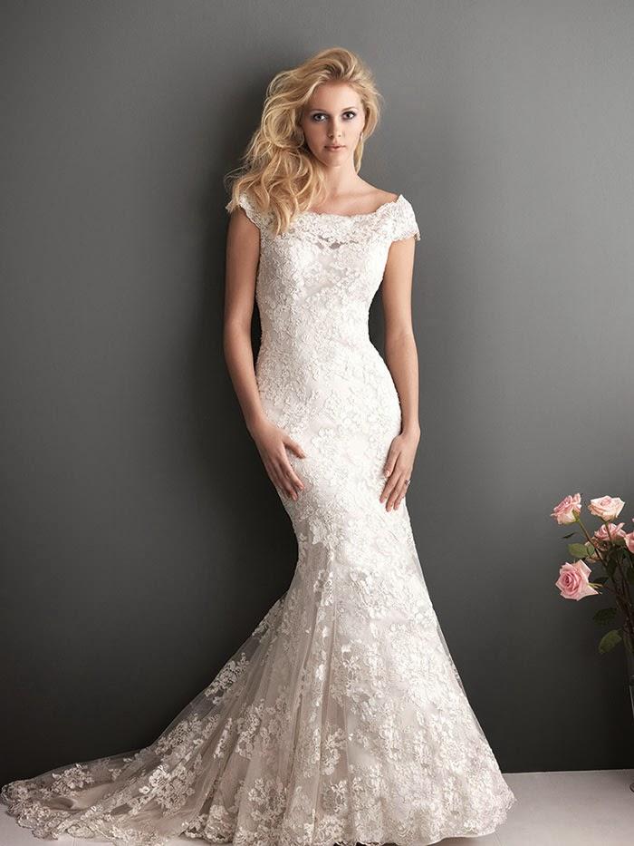 Mermaid Wedding Dress With Bateau Neckline