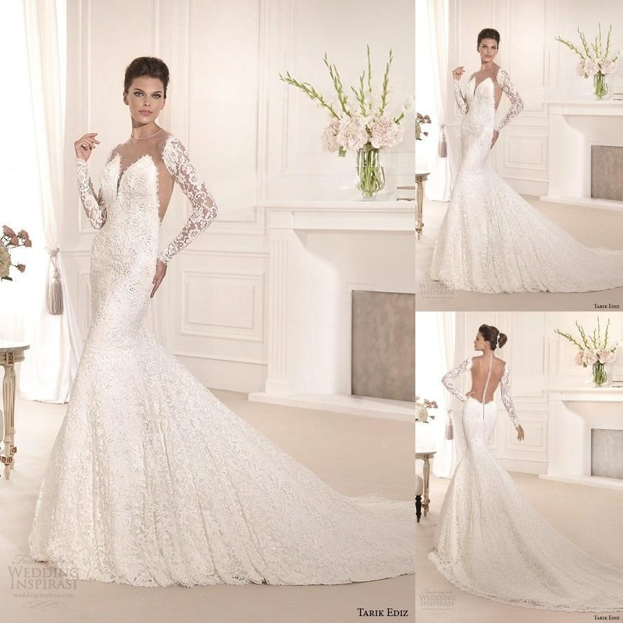Mermaid wedding dress with open back by Tarik Ediz