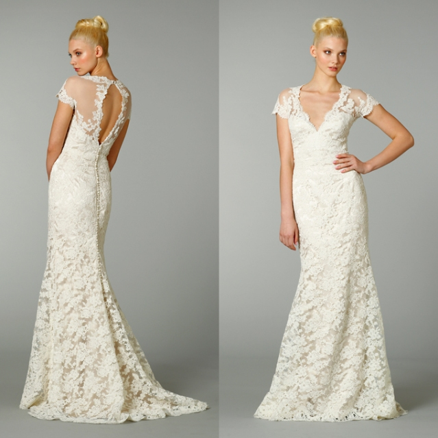 31 incredible lace wedding dresses ideas the best for Sheath v neck wedding dress