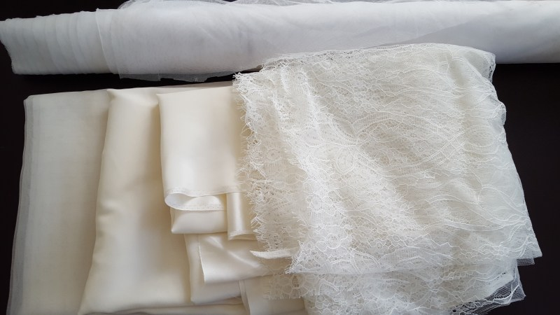 The wedding gown fabrics